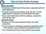 tips to ease prelim anxiety