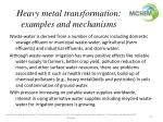 heavy metal transformation examples and mechanisms