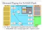 demand paging for nand flash