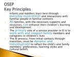 osep key principles