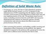 definition of solid waste rule1