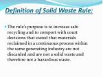 definition of solid waste rule2