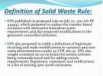 definition of solid waste rule4