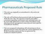 pharmaceuticals proposed rule