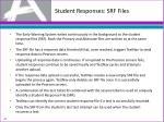 student responses srf files