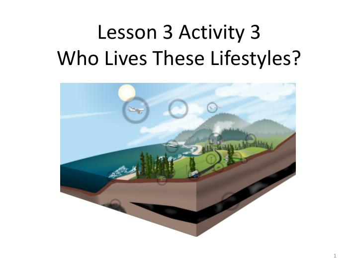 lesson 3 activity 3 who lives these lifestyles n.