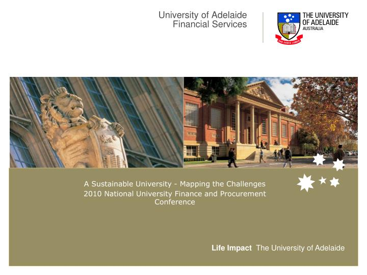 university of adelaide financial services n.