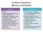 problem statement barriers and needs