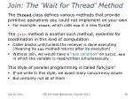 join the wait for thread method