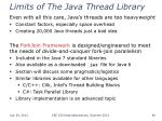 limits of the java thread library