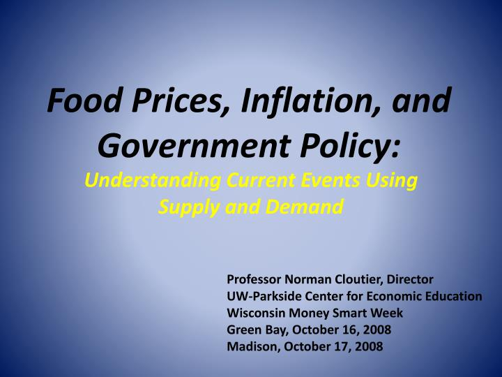 food prices inflation and government policy n.