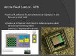 active pixel sensor aps