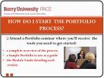 how do i start the portfolio process