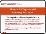 what is an experiential learning portfolio