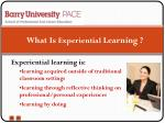 what is experiential learning