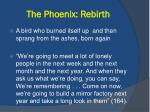 the phoenix rebirth