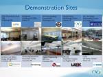 demonstration sites