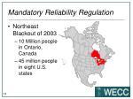 mandatory reliability regulation