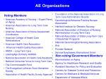 ae organizations