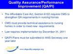 quality assurance performance improvement qa pi