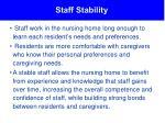 staff stability