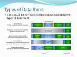 types of data burst