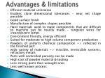 advantages limitations