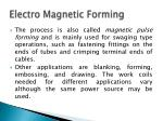 electro magnetic forming