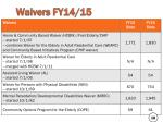 waivers fy14 15