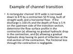 example of channel transition