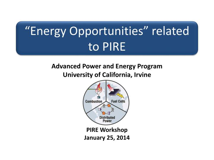 energy opportunities related to pire n.