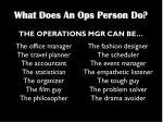 what does an ops person do1
