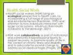 health social work