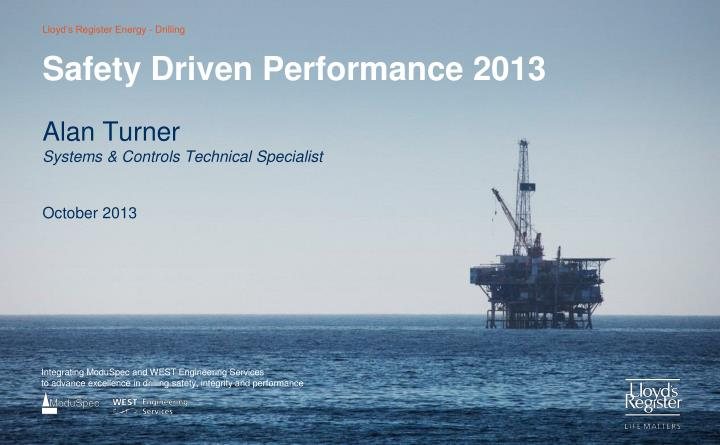 safety driven performance 2013 n.