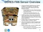 ceres fm6 sensor overview