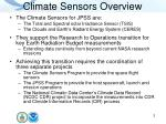 climate sensors overview