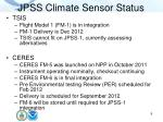 jpss climate sensor status