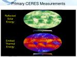 primary ceres measurements
