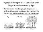 hydraulic roughness variation with vegetation community age