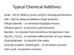 typical chemical additives