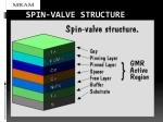 spin valve structure