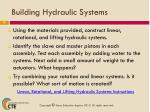 building hydraulic systems