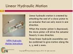 linear hydraulic motion