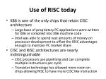 use of risc today