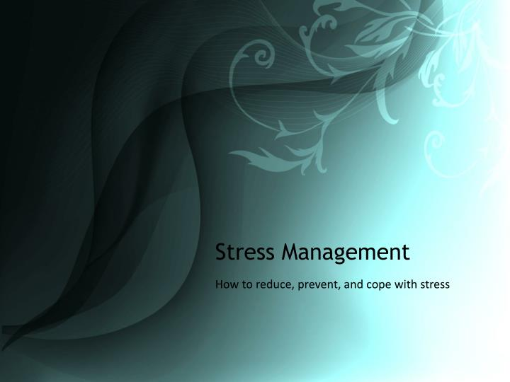 stress management n.