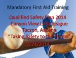 mandatory first aid training