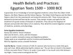 health beliefs and practices egyptian texts 1500 1000 bce