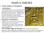 health in 2500 bce