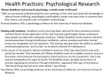 health practices psychological research