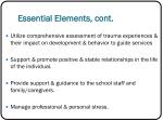 essential elements cont